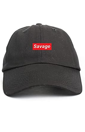 19a8f1ab384 Savage Supreme Unstructured Hat- Black  Amazon.co.uk  Clothing