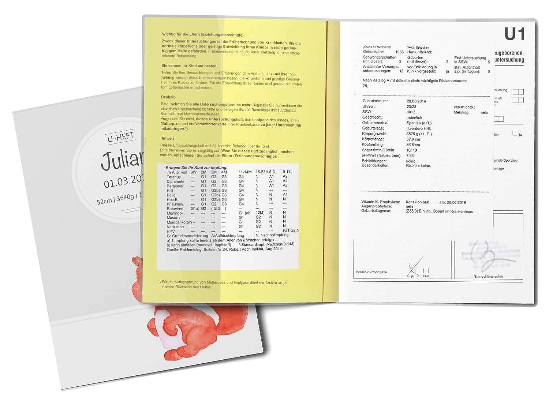 U-Heft H/ülle 3-teilig Set Waldtiere Untersuchungsheft H/ülle /& Impfpassh/ülle U-Heft H/üllen Set 3-teilig ohne Personalisierung, B/är