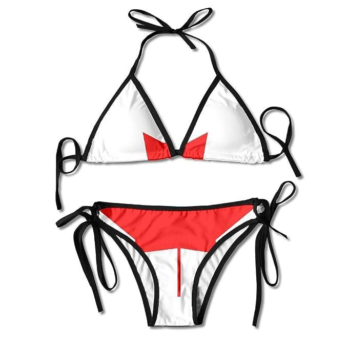 63cf2d09bac Amazon.com: PIN Canadian Flag Swimsuits Bikinis Thong Swimsuit for Beach  Beach Swimming: Clothing