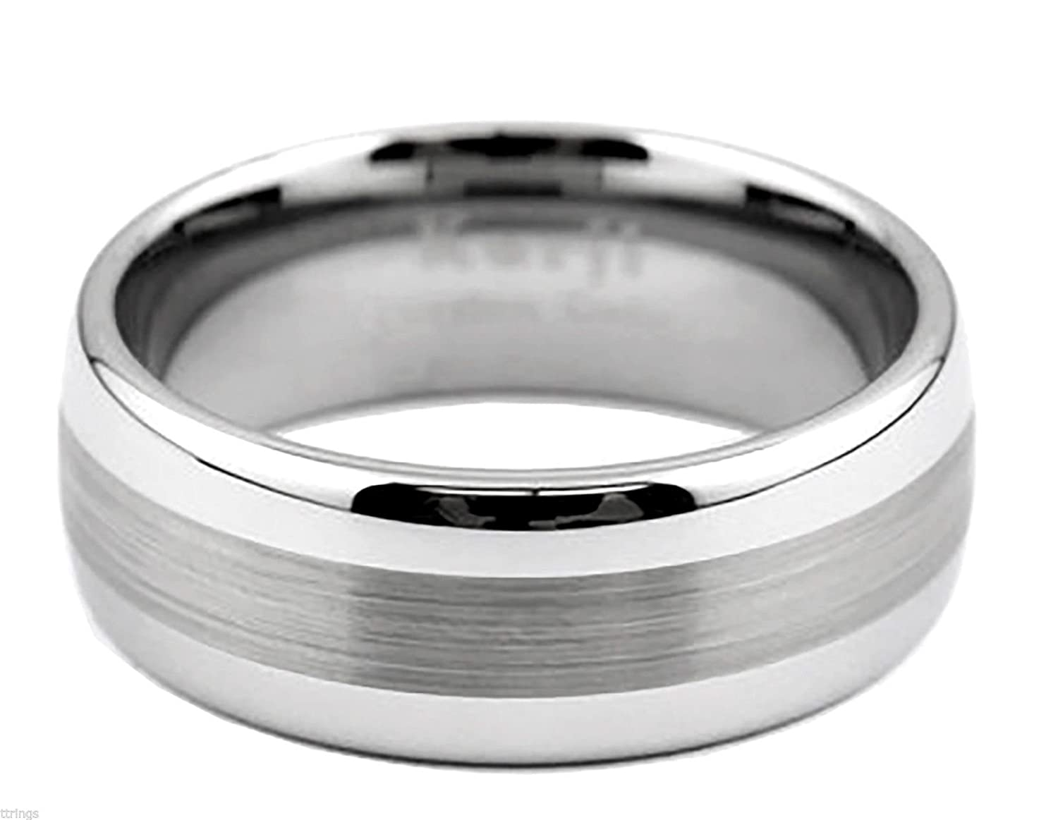 King Will Gentleman - Anillo de carburo de tungsteno para Hombre, 8 mm, Color Negro, Fibra de Carbono, para Boda: Amazon.es: Joyería