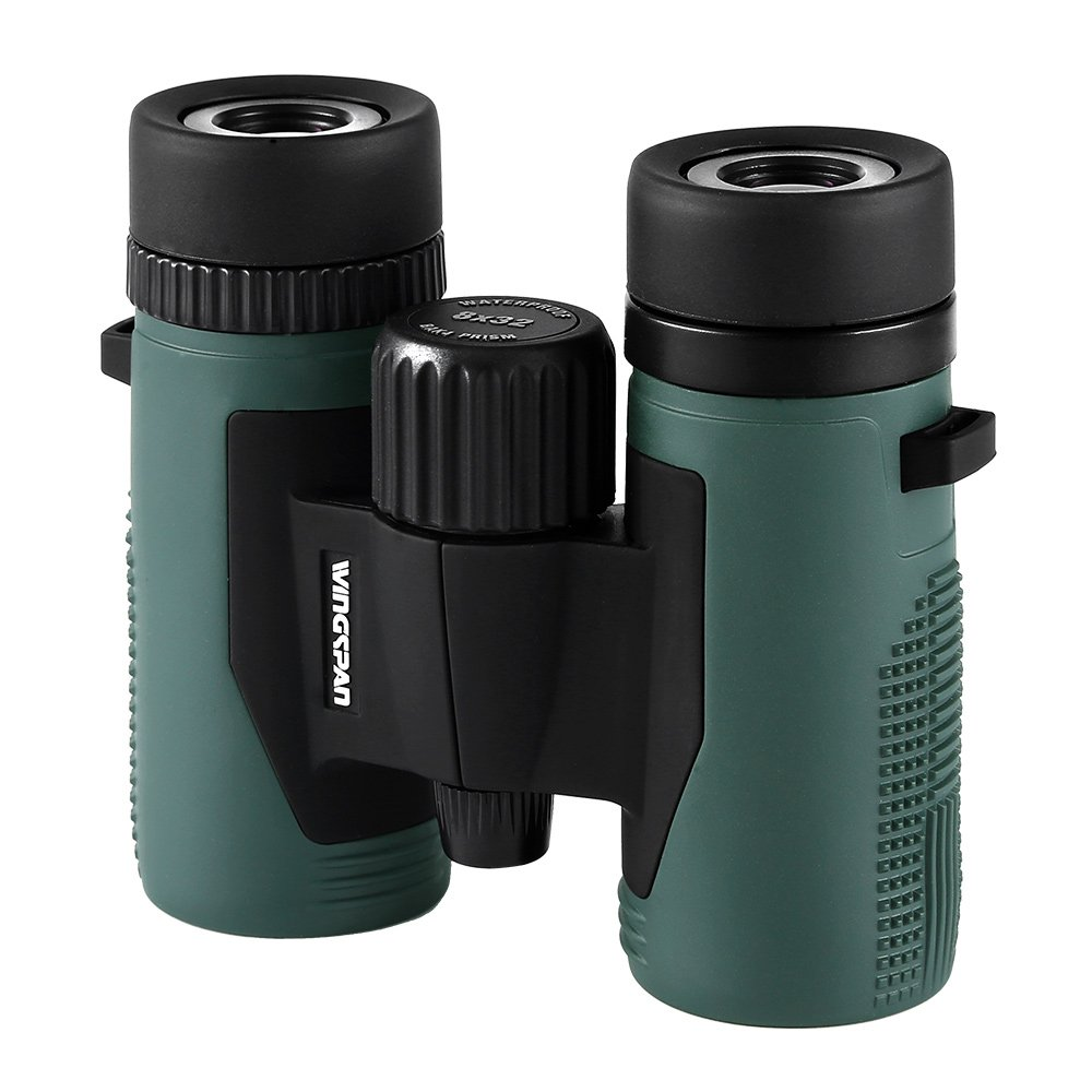 Wingspan Optics NatureSport 8X32 Waterproof Compact Binoculars for Bird Watching. Ultra-Lightweight, Rugged and Durable. Pocket-Size Binoculars for the Nature Lover on the Go. Formerly Polaris Optics.