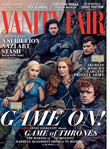 - Vanity Fair Magazine (April, 2014) Game of Thrones Cover
