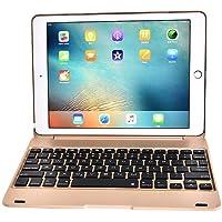 Keyboard Case for IPad Pro 9.7 Inch, 2018 IPad,2017 IPad,IPad Air,Battery Operated Detachable Wireless Bluetooth Keyboard with Ipad Full Protection Case, Auto Wake and Sleep