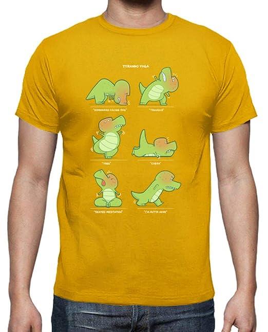 latostadora - Camiseta T-Rex Ama Yoga para Hombre: amjung ...