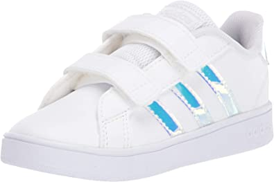 adidas Kids Boys GrandCourt Childs Low Top Trainers Sports Shoes Lace Up