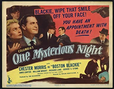 One Mysterious Night (1944) Original U.S. Title Card 11x14 Movie Poster  CHESTER MORRIS JANIS 3bfca86944ff
