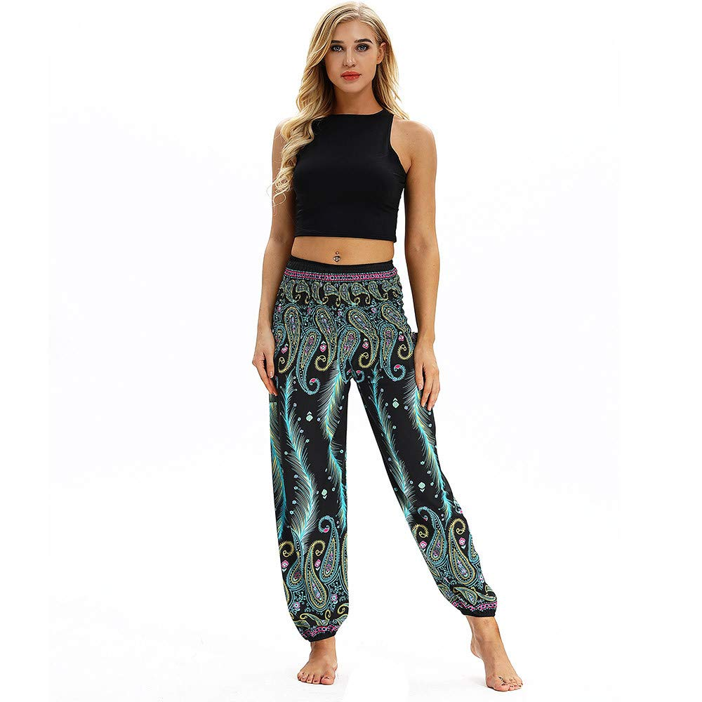 Amazon.com: Mens Womens Casual Loose Sports Pants Hippy Yoga ...