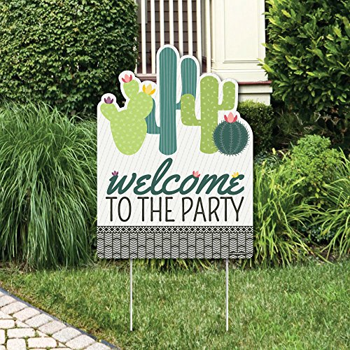 Big Dot of Happiness Prickly Cactus Party - Party Decorations - Fiesta Party Welcome Yard Sign