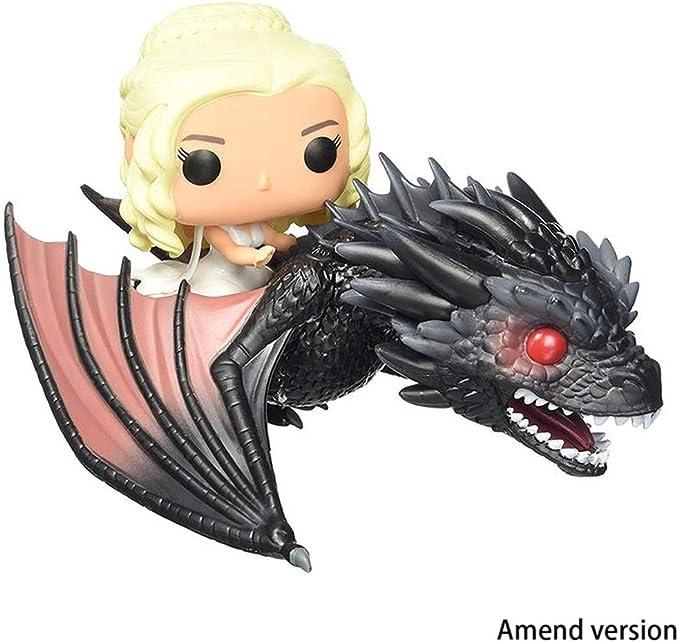Lilongjiao Juego De Tronos: Una Canción De Hielo Y Fuego Dragon Mother Riding A Dragon Danielis Nendoroid Figura De Acción Modelo Juguetes: Amazon.es: Juguetes y juegos