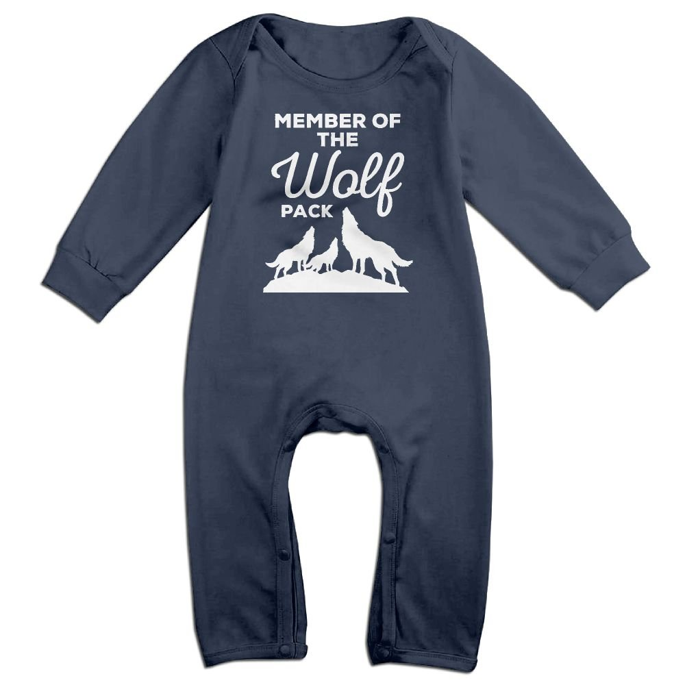 Happy Happiness Baby Member The Wolf Pack Lightweight Long Sleeve Romper