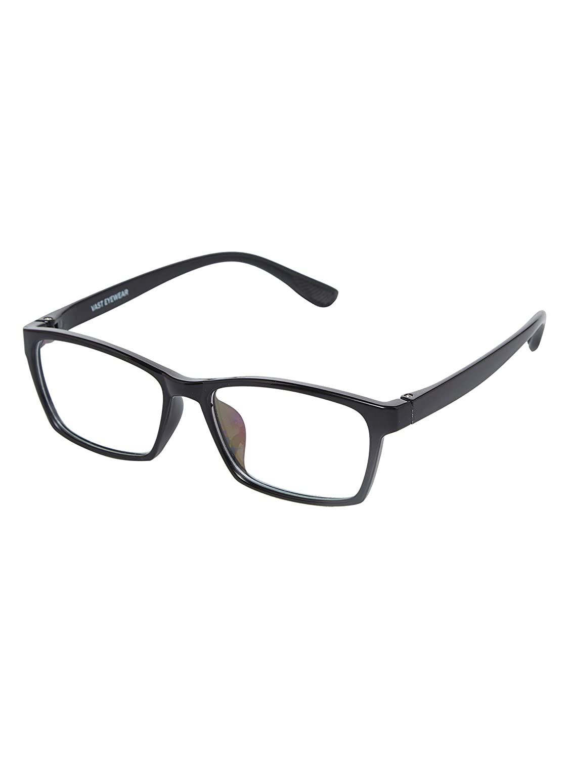 Vast Anti Reflection & Light Weight Strong Black Unisex Spectacle Frame (8013_C1_BLACK_ARC_CLEAR)