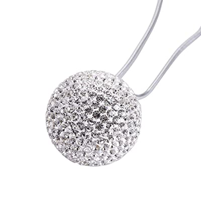 """Happy reunion Crystal ball hanging ornament charms 1.37"""" Car Hanging Decor Ornament Decoration Rearview Mirror Pendant Car Accessories for Car Interior Decoration Car Accessories: Clothing"""