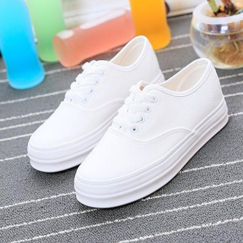 Scarpe suole di Wuyulunbi Bianco scarpe bianche con scarpe IBxWaq6d
