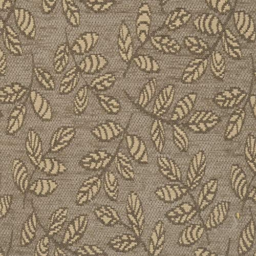 Quartz Grey Leaves Contemporary Modern Wovens Chenille Environment Plus Green Upholstery Fabric by the yard ()