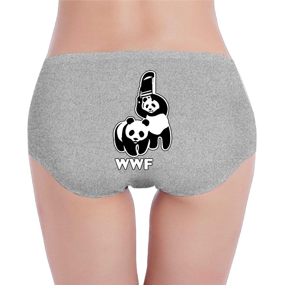 YZHBIon WWF Funny Panda Bear Wrestling Women's Soft Low-Waist Underwear