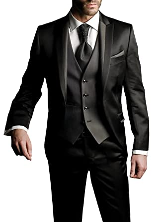 3d5eb1f1a713 Suit Me Men's Suit Black Black - Black - Small (Referring to The Size  Table): Amazon.co.uk: Clothing