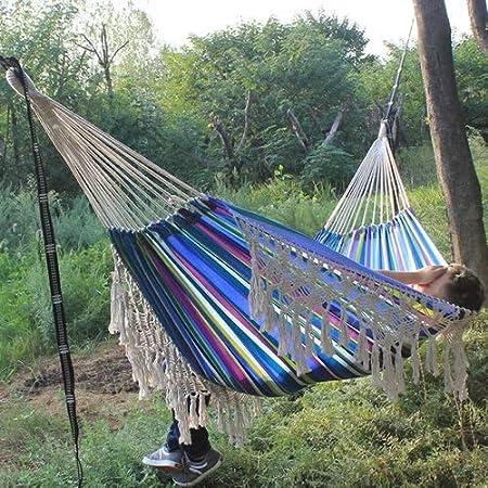Y-M-H 200x150cm Hamaca oscilación del jardín Cama durmiendo romántico Silla Colgante Acampar al Aire Libre del cordón del portátil (Color : 02)