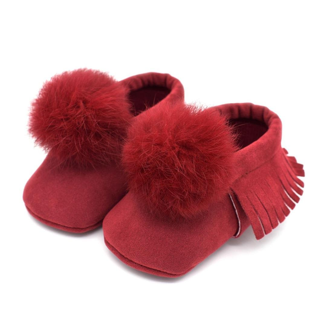 Newborn Baby Girls Fringe Cute Ball Soft Anti-slip Shoes, Momola High Quality Infants Toddler Casual Shoes OES9
