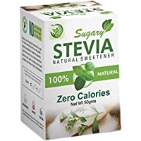 Sugary Stevia, Natural Sweetner, Zero Calories - 50 GMS Pack