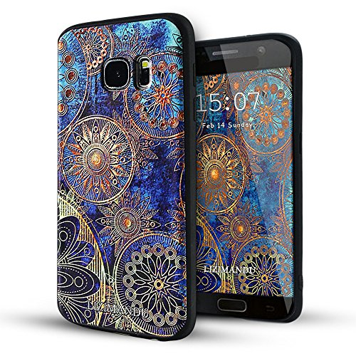 Samsung Galaxy S7 case,Lizimandu TPU Case for Samsung Galaxy S7(Blue Flower)