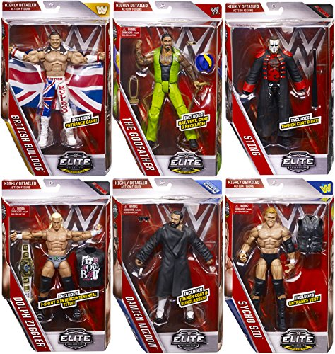 WWE Elite Collection Series 39 - Complete Set of 6 Mattel Toy Wrestling Action Figures