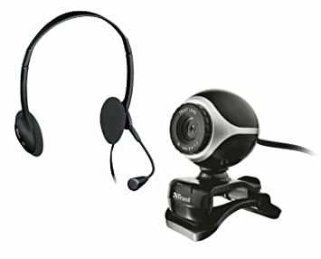 Trust 403817 - Webcam + auriculares, color negro