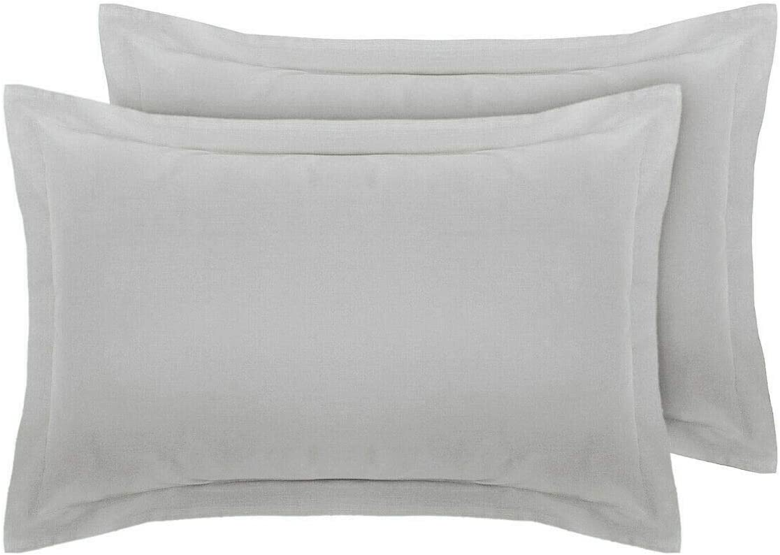 White Comfort Collections Oxford Pair Pillow Cases 50 x 75 CM PolyCotton Easy Care Non Iron Plain Dyed Pillowcases Hotel Quality COLOUR