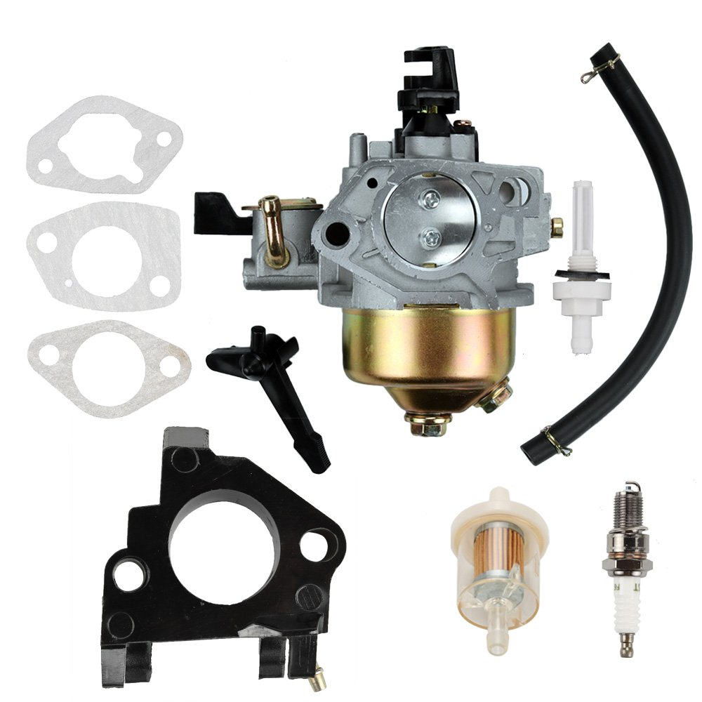 Butom GX390 Carburetor with Fuel Filter Line Gasket for Honda GX 390 GX340 13HP 11HP Engine 16100-ZF6-V01