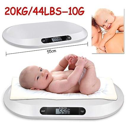 Báscula digital de pesaje para bebé, no deslizante, digital, electrónica, precisa,