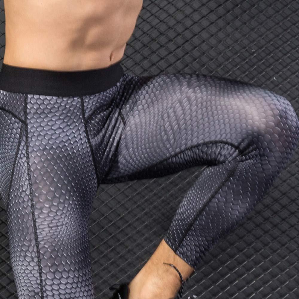 Amiley Men Sweatpants,Men Sport Breathable Quick Dry Comfy Fitness Suit Long Pants Gym Workout Tights