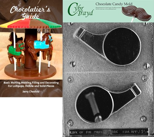 Cybrtrayd J015 - Molde para chocolate, diseño de silbato, Chocolatier Bk, 12, Transparente, 1