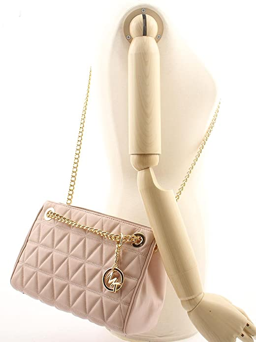 1cb46ce70666 MICHAEL KORS Scarlett Quilted Leather Shoulder Bag in Soft PInk  Handbags   Amazon.com