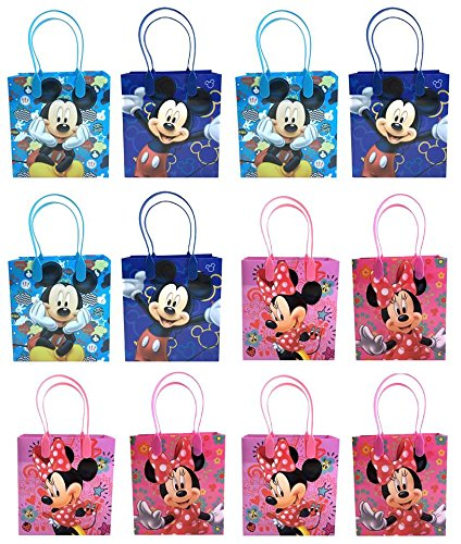 Disney Mickey & Minnie Mouse Mixed Goodie, Favor, Gift Bags 24 Pieces]()