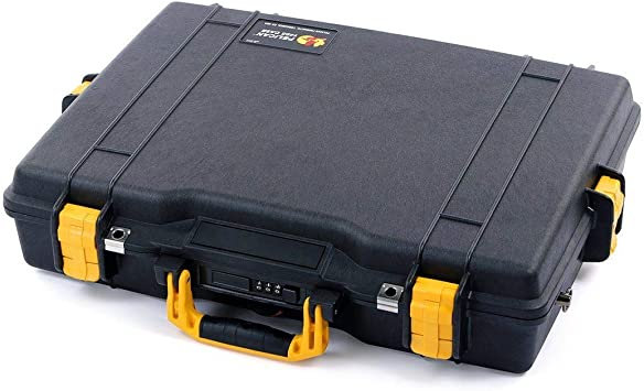 Comes with Foam. Yellow /& Black Pelican 1550 Case
