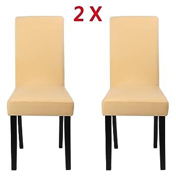 Schön Chycet Stuhlhussen 2 Stück, Stretch Stuhlbezug Elastische Moderne Husse, Dekoration  Stuhl Abdeckung