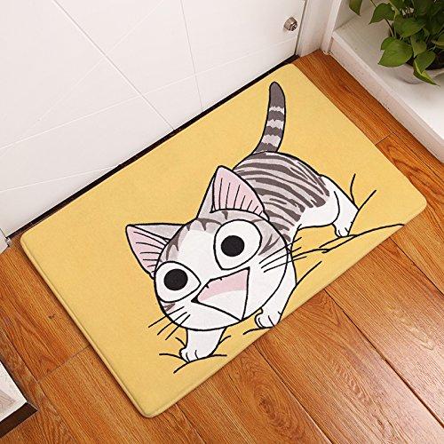 Tapis paillasson chat jaune de mousse antidérapante et absorbant tapis bain Cuisine habitacion vétérinaires Mystère jardin Hall escalier 40x 60cm de Open Buy