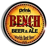 BENCH beer and ale cerveza wall clock