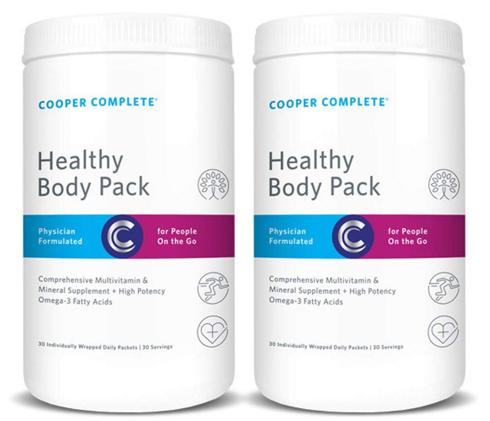 Cooper Complete – Healthy Body Pack – Daily Vitamin Pack with Multivitamin Omega-3 Fish Oil – 60 Day Supply