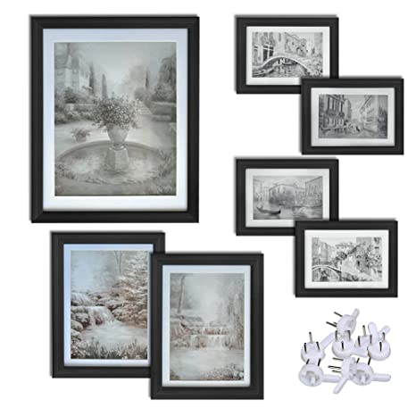 Amazon.com - Giftgarden Black Picture Frames Set Wall Gallery Frame ...