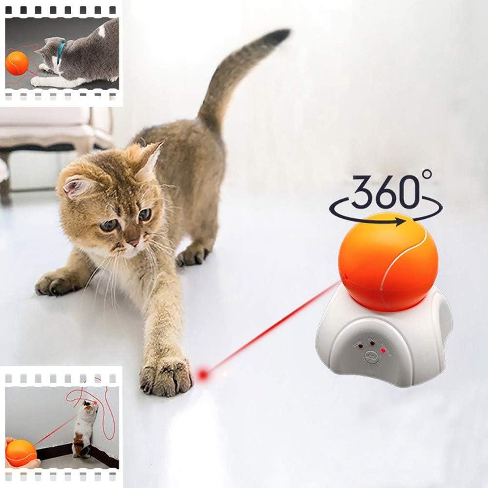 SimpleMfD Pet Fun Safe Puntero de luz automático, Pelota de Tenis Desmontable y Soporte, Juguete Interactivo para Ejercicios de Ejercicio con Gato: Amazon.es: Productos para mascotas