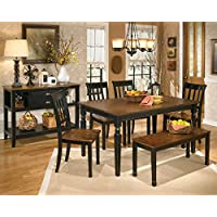 Ashley Furniture Signature Design - Owingsville Dining Room Server - Vintage Casual - Black/Brown