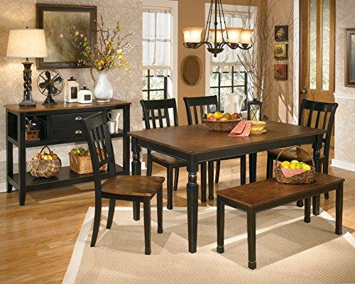 Amazon.com   Ashley Furniture Signature Design   Owingsville Dining Room  Server   Vintage Casual   Black/Brown   Buffets U0026 Sideboards