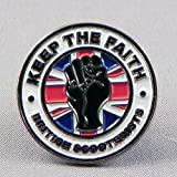 ROYALE SQUARE CAR GRILL BADGE WHITE PEACE POPPY B3.0070