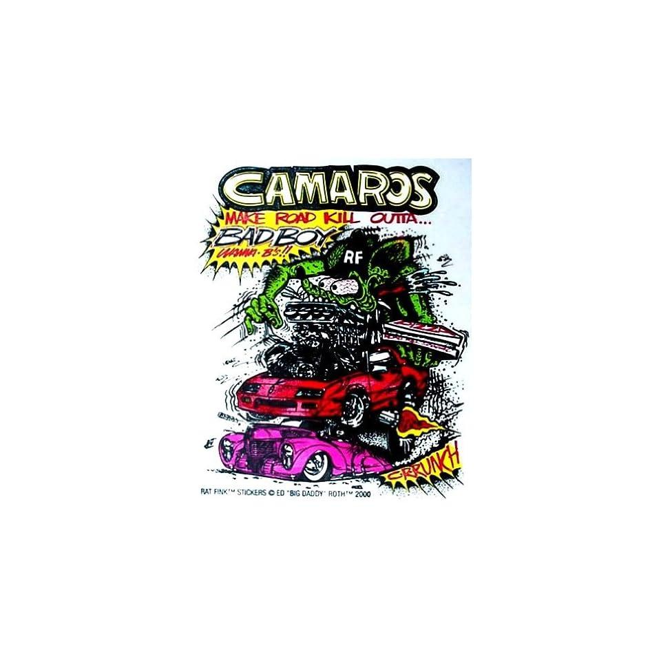 Rat Fink CHEVY CAMARO Hot Rod Decal / Sticker Automotive