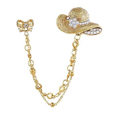 Amazon.com: ExhilaraZ Broches Pin Vintage Pajarita Sombrero ...