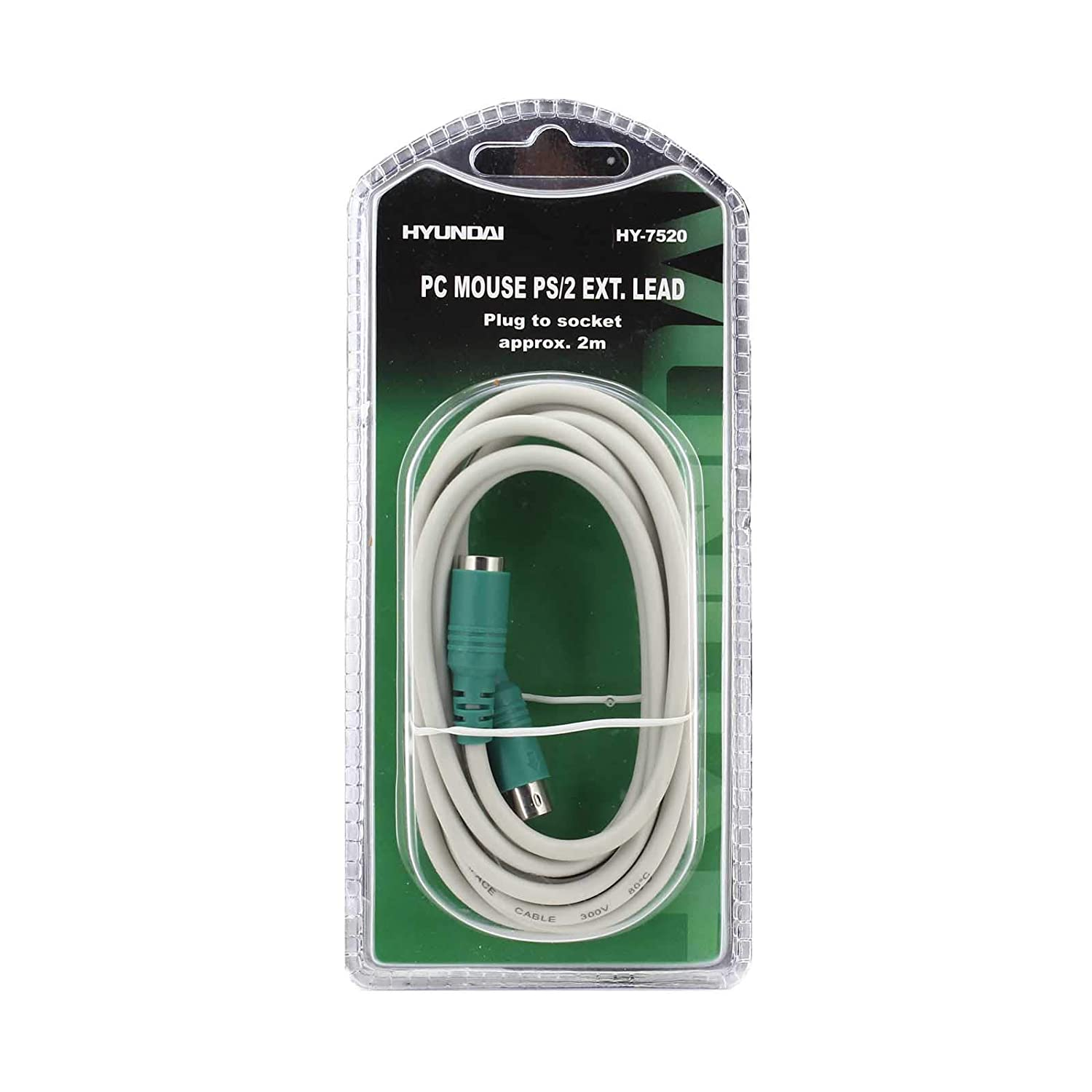 MOUSE 2M, Green 6 pin Plug to Female Socket 121AV PS2 PS//2 Extension Cable Extender Lead for Keyboard or Mouse