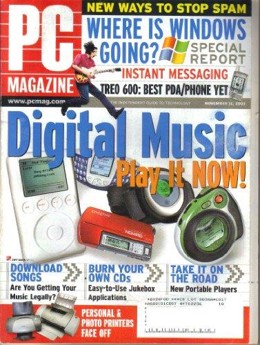 - PC Magazine, Vol. 22, No. 20 (November 11, 2003)