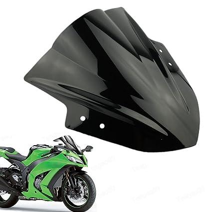 Amazon.com: Beautyexpectly Motorcycle Windshield WindScreen ...