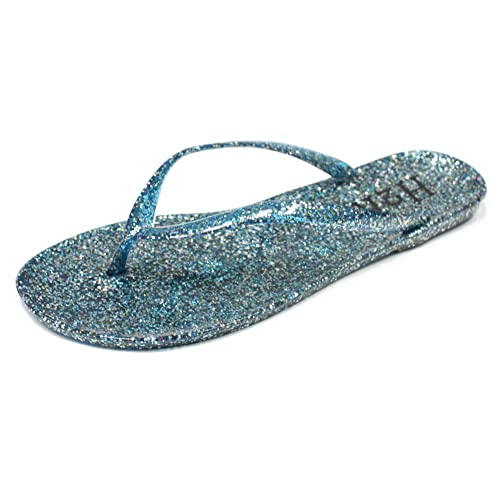 f783b7ef32 H2K Jelly Flip Flops for Women, EVE' Women's Beach Jelly Glittery Sheen  Slip-