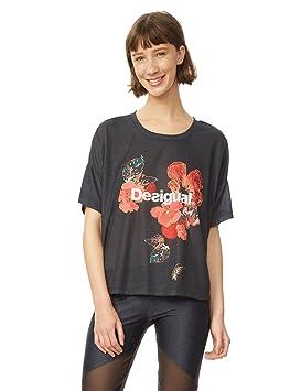Desigual TS Scarlet Blo 5189 Camisetas, Mujer, Turquesa (Peacoat), S